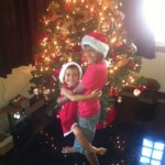 At home in Manilla, 4-year-old Georgia Halliwell-Paget and her big brother, AJ, are spending their last Christmas in the Philippines. Christmas will be in the UK in 2014.