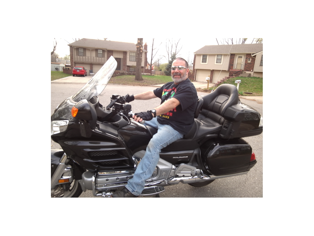 Ric Donnici is able to ride his motorbike after proton therapy treatment