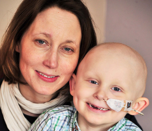 Zach =nicholls and his mother who spotted his cancer by chance